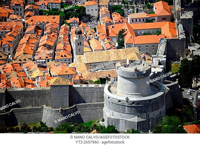 Views of the Old Town of Dubrovnik from above