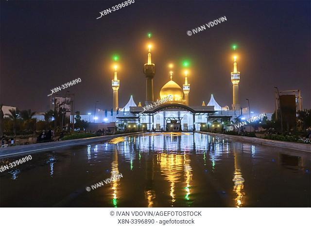 Mausoleum of Ruhollah Khomeini at night, Tehran, Iran