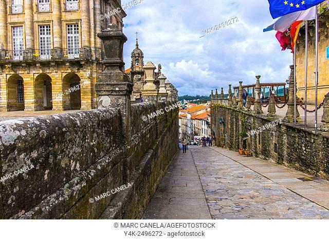 Rua das Hortas, Santiago de Compostela, La Coruña province, Galicia, Spain