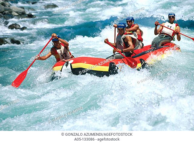 Rafting. Noguera-Pallaresa River. Spain