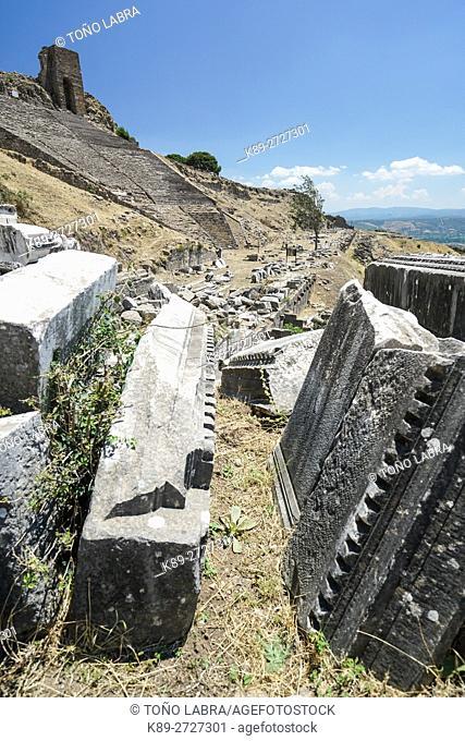Dyonisos Temple. Pergamon. Ancient Greece. Asia Minor. Turkey