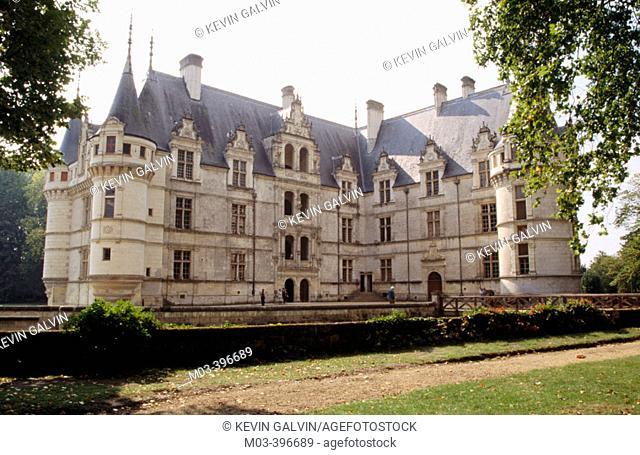Azay-le-Rideau Castle (1518-29). Loire Valley, France
