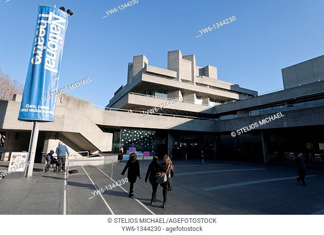 Entrance to the National Theatre at the South Bank Centre in London