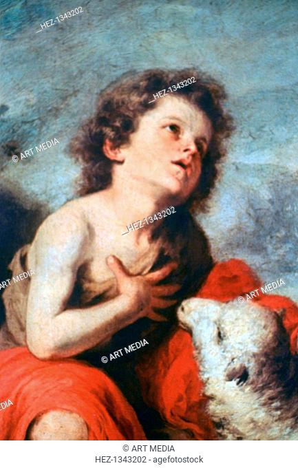 'St John the Baptist as a Child', c1665. Found in the collection of the Prado, Madrid, Spain