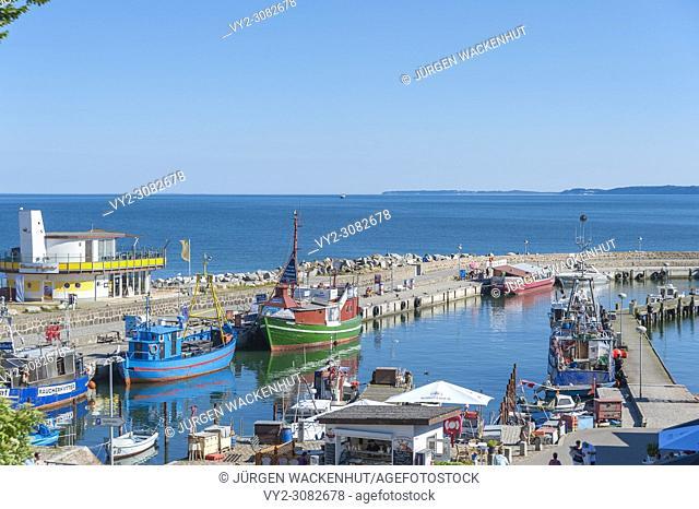 Fishing port, Sassnitz, Rügen, Mecklenburg-Vorpommern, Germany, Europe
