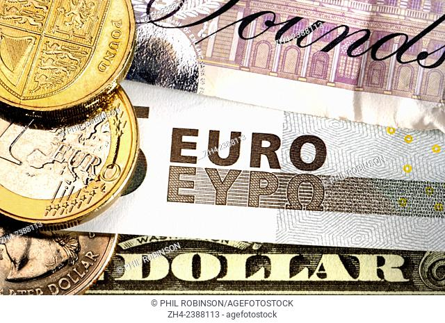 Pounds, Euros and Dollars