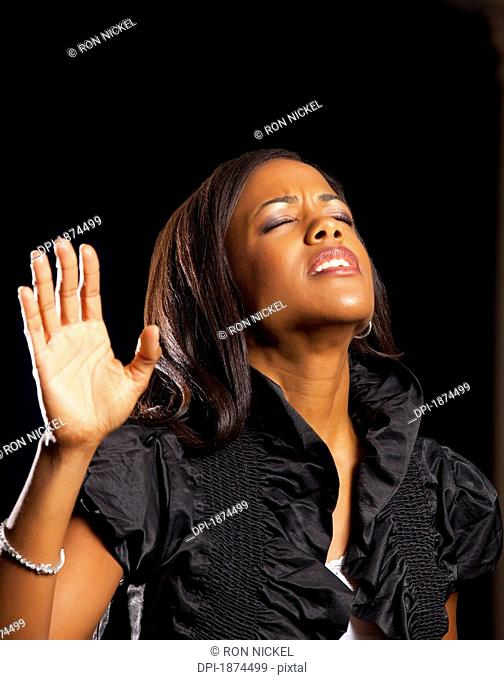 Fort Lauderdale, Florida, United States Of America, A Woman Singing In Worship