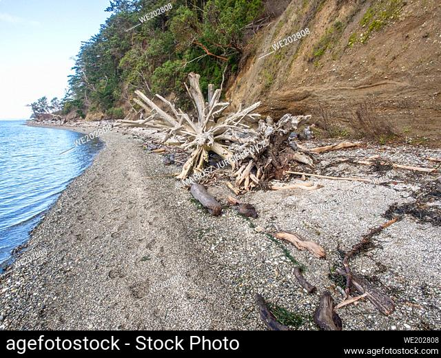 Cama Beach State Park is a public recreation area facing Saratoga Passage on the southwest shore of Camano Island in Island County, Washington
