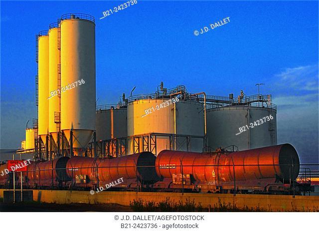 Hydrocarbon harbour at Antwerp, Belgium