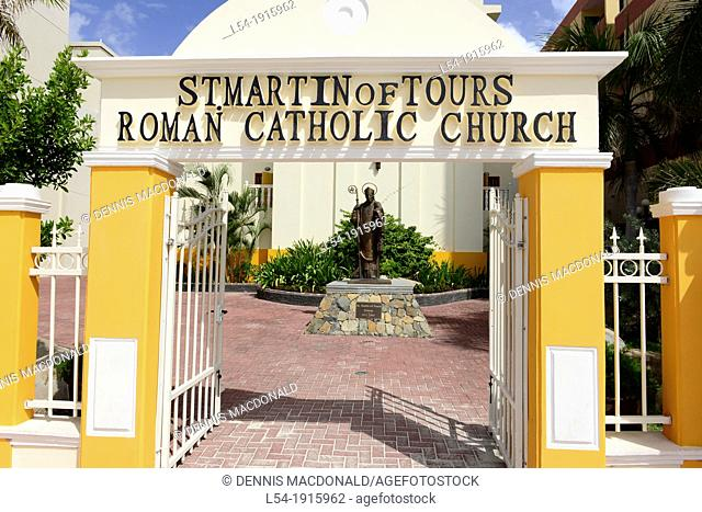 St  Martin of Tours Roman Catholic Church Philipsburg Caribbean Island Netherland Antilles