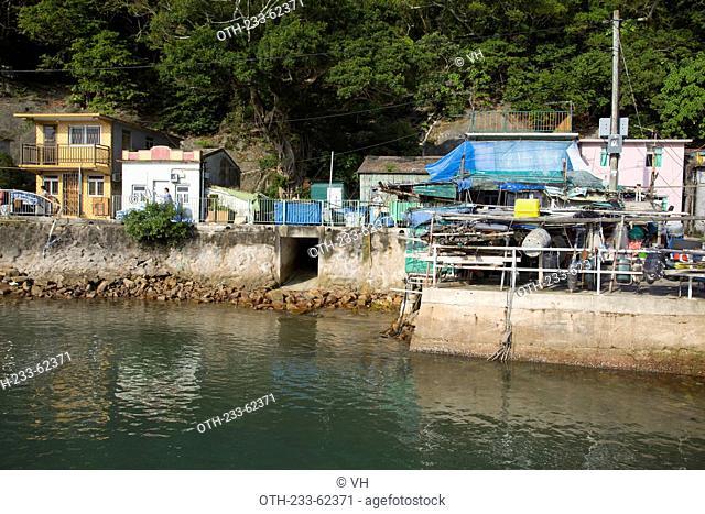 Fishermen village on Kau Sai Chau, off Sai Kung, Hong Kong