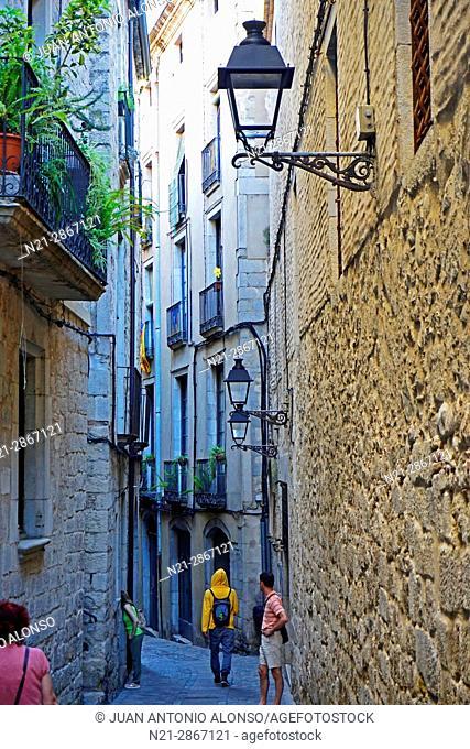 Old Jewish Quarter. City of Girona, Catalonia, Spain, Europe