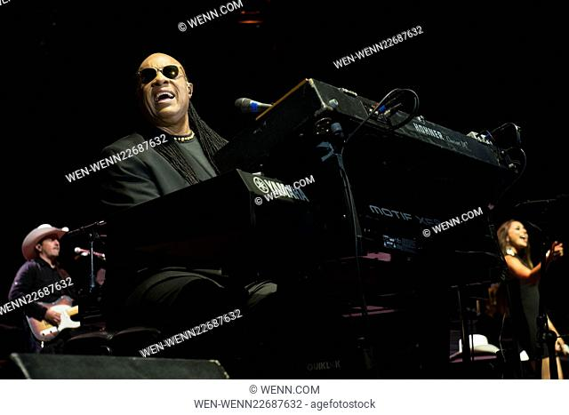 Stevie Wonder preforming live on stage during the Calgary Stampede Featuring: Stevie Wonder Where: Calgary, Canada When: 12 Jul 2015 Credit: WENN.com