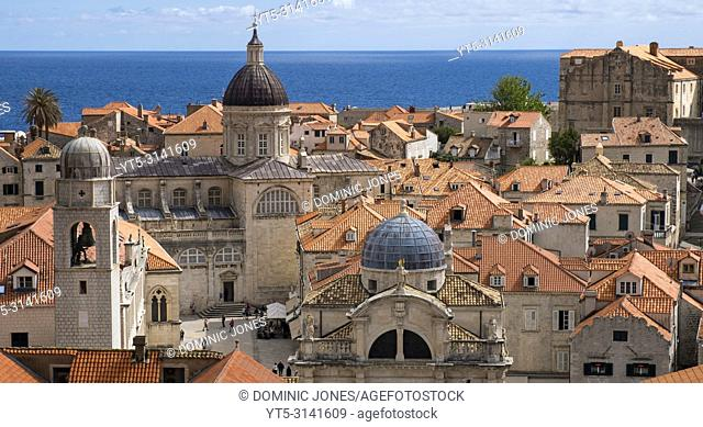 The Cathedral and church of St, Blaise, Old Town, Dubrovnik, Croatia, Europe