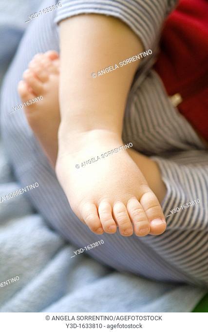 Toddler baby feet