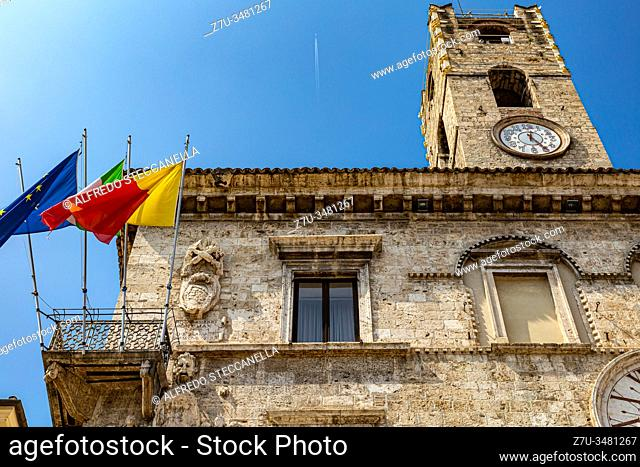 Photos of the beautiful medieval streets and houses of the Umbrian towns (Italy)
