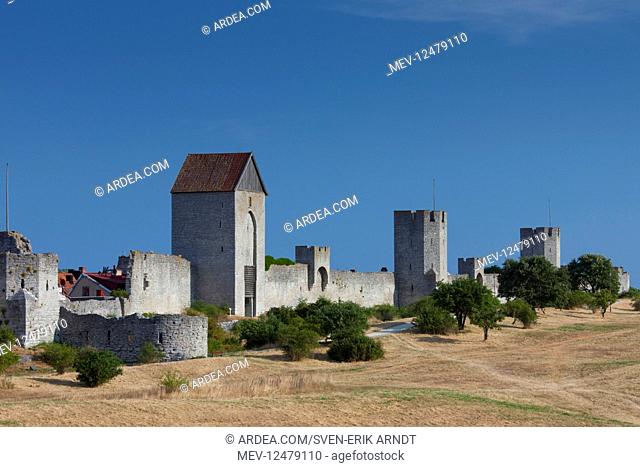 City wall of Visby - Gotland island - Sweden
