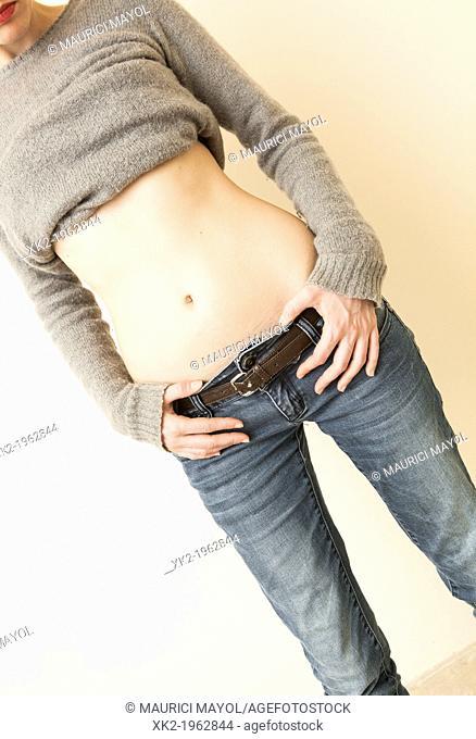slim fit woman's body