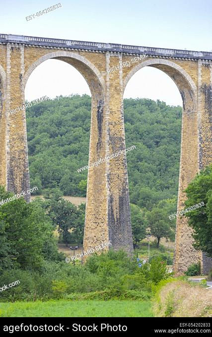 The viaduct near Souillac in the Midi-Pyrenees region of southern France