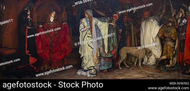 King Lear, Act 1, Scene 1, Edwin Austin Abbey, 1898, Metropolitan Museum of Art, Manhattan, New York City, USA, North America