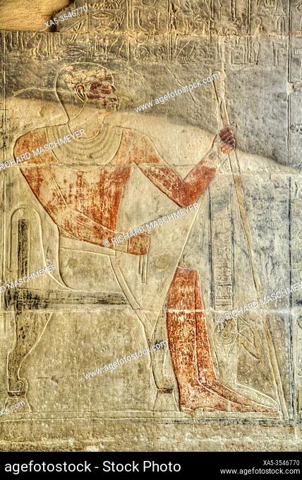 Reliefs, Mastaba of Mereruka, Necropolis of Saqqara, UNESCO World Heritage Site, Saqqara, Egypt