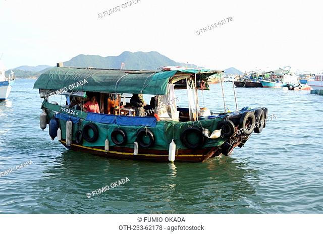 Kai-to, transportation between land to boat at Sai Kung, Hong Kong