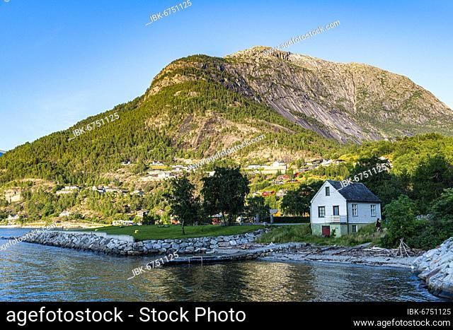 Eidfjord village, Eidfjord, Vestland, Norway, Europe