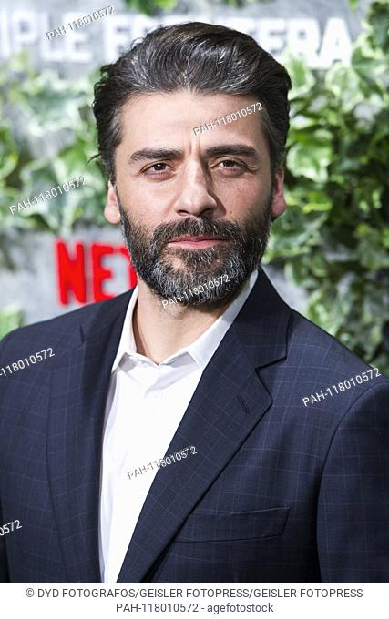 Oscar Isaac at the premiere of the Netflix movie 'Triple frontera / Triple Frontier' at Cine Callao. Madrid, 06.03.2019 | usage worldwide
