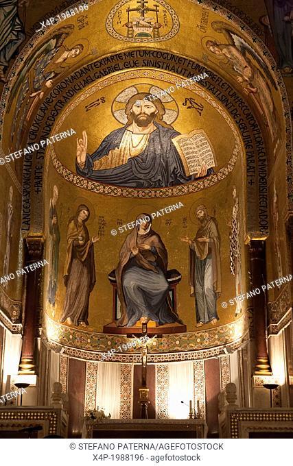 Cappella Palatina, Palazzo dei Normanni, Palazzo Reale, Palermo, Sicily, Italy