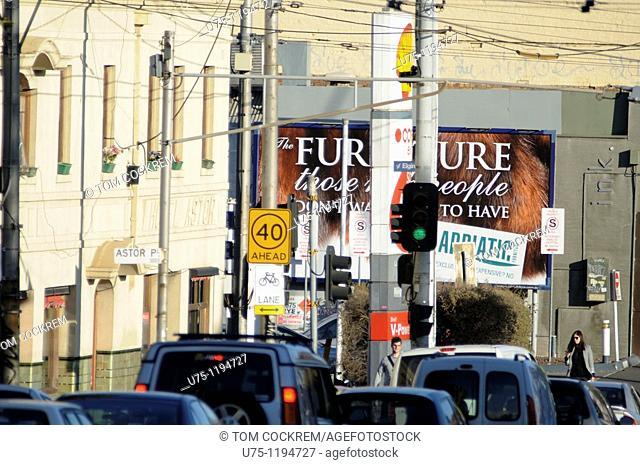 Lygon Streeet scene, Carlton, Melbourne, Australia