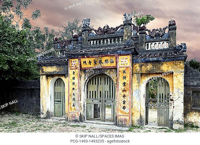 Weathered Oriental Gateway