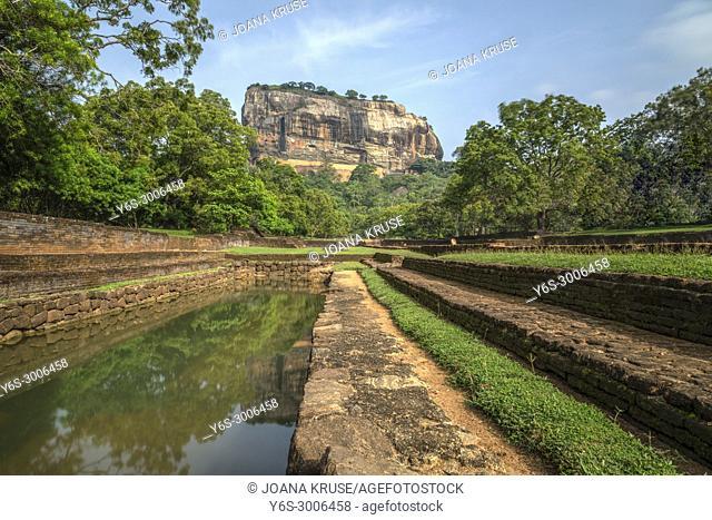 Lion Rock, Sigiriya, Matale, Central Province, Sri Lanka, Asia