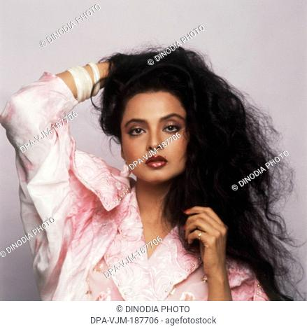 1985, Portrait of Indian film actress Rekha