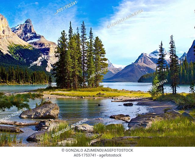 Maligne Lake Jasper National Park Rocky Mountains Alberta Canada