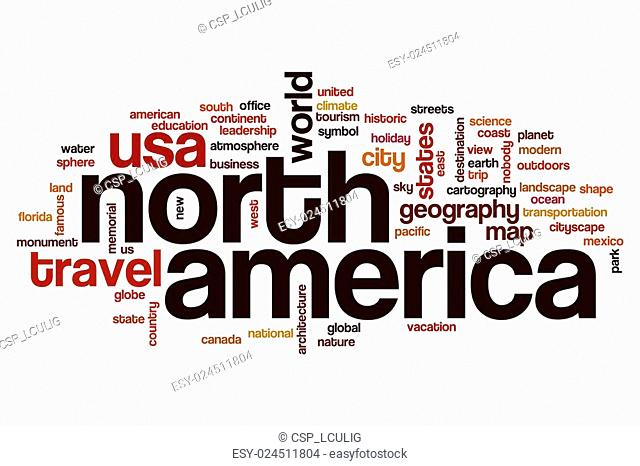 North America word cloud concept
