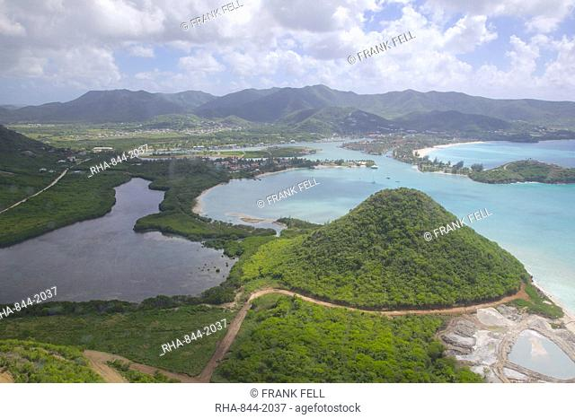 View over Five Islands Harbour, Antigua, Leeward Islands, West Indies, Caribbean, Central America