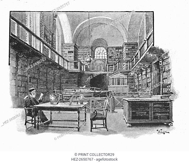 'The Library, St. Paul's Cathedral', 1891. Artist: William Luker