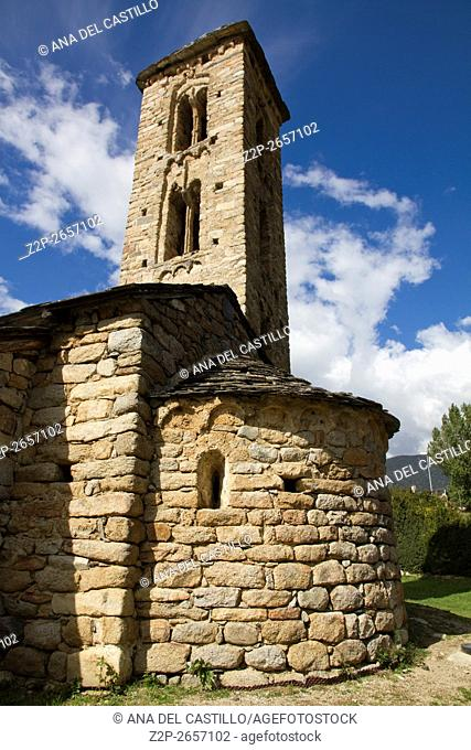 Romanesque church Sant Miquel d Engolasters whose main architectural feature is the bell tower, Andorra, UNESCO World Heritage Site