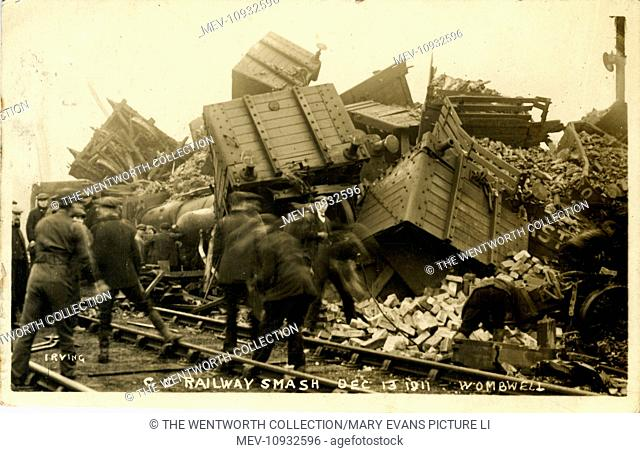 Great Central Railway Accident, Wombwell, Barnsley, Yorkshire, England
