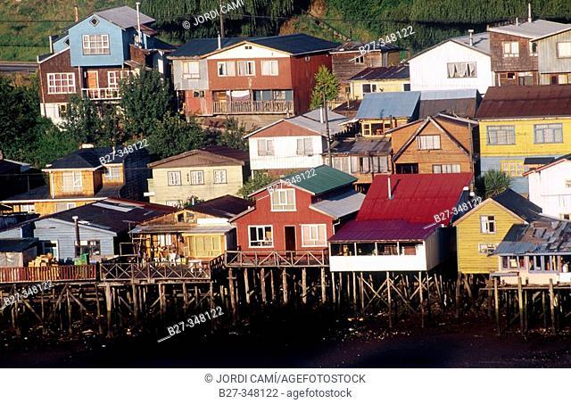 Palafitos. Castro. Chiloé island. Chile