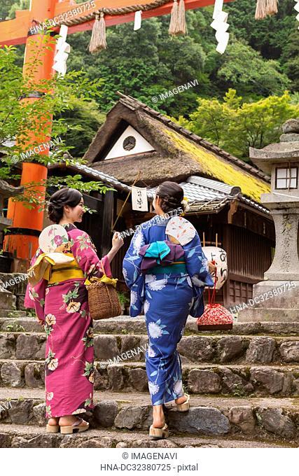 Woman in Yukata, Kyoto, Japan