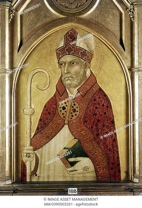 Lippo Memmi c 1285-1361 St Augustine of Hippo 354-430 one of the great fathers of the early Christian Church  Pushkin Museum, Moscow