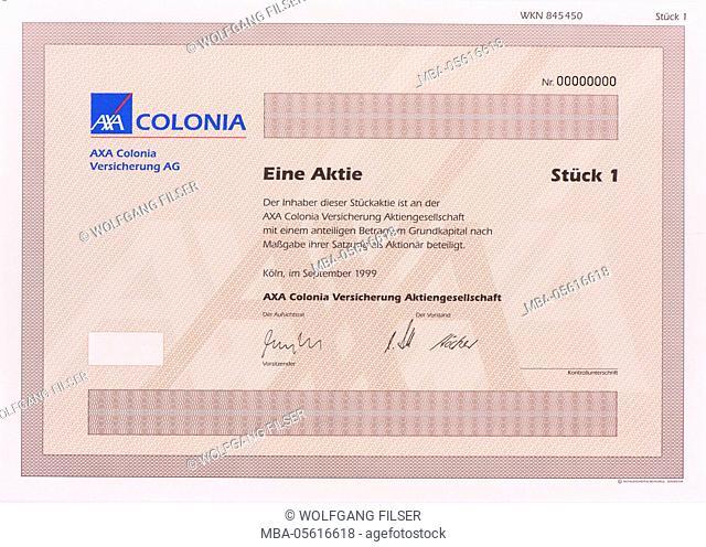 Stock of the company AXA Colonia Insurance
