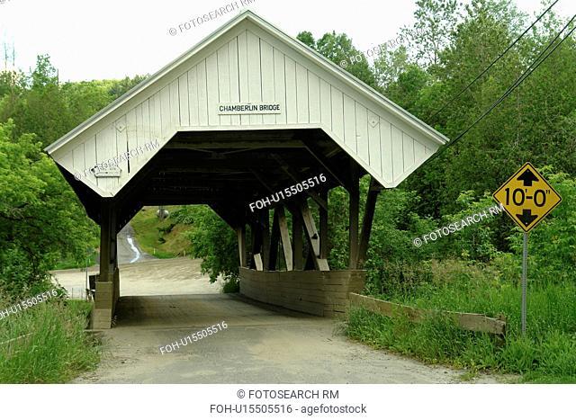 Lyndon, VT, Vermont, Chamberlin Covered Bridge