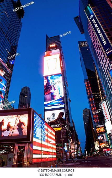 Illuminated signs Times Square, New York, USA