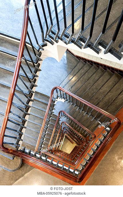 Stairs, Kontorhäuser / office buildings of Hamburg, Chilehaus, digitally arranged