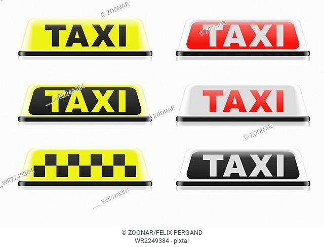 Various Taxi Signs