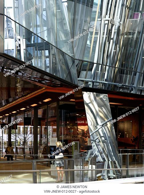 One New Change, Jean Nouvel, London, 2010, Interior Mall view, JEAN NOUVEL, UNITED KINGDOM, Architect