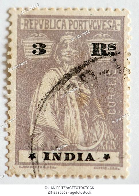 stamp of former portugese colony India