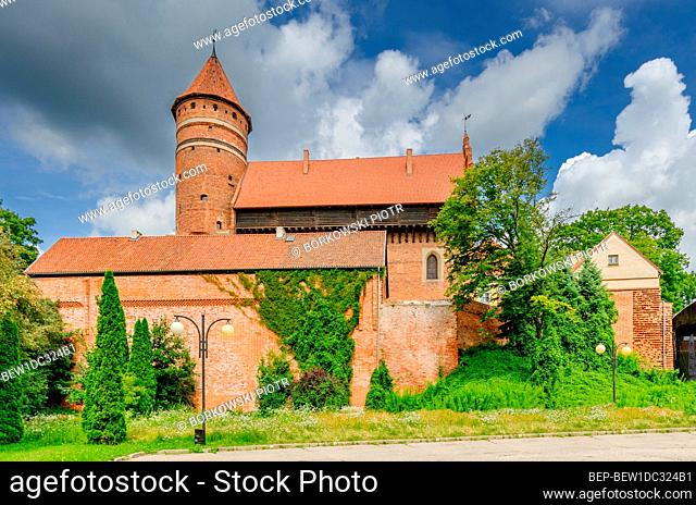 OLSZTYN, WARMIAN-MAZURIAN PROVINCE, POLAND, ger.: Allenstein, 14th cent. gothic castle, former seat of the prince-bishop of Warmia